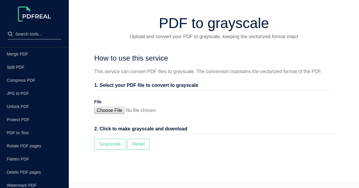 PDF Real   Conversion Tool to Convert PDF to Grayscale